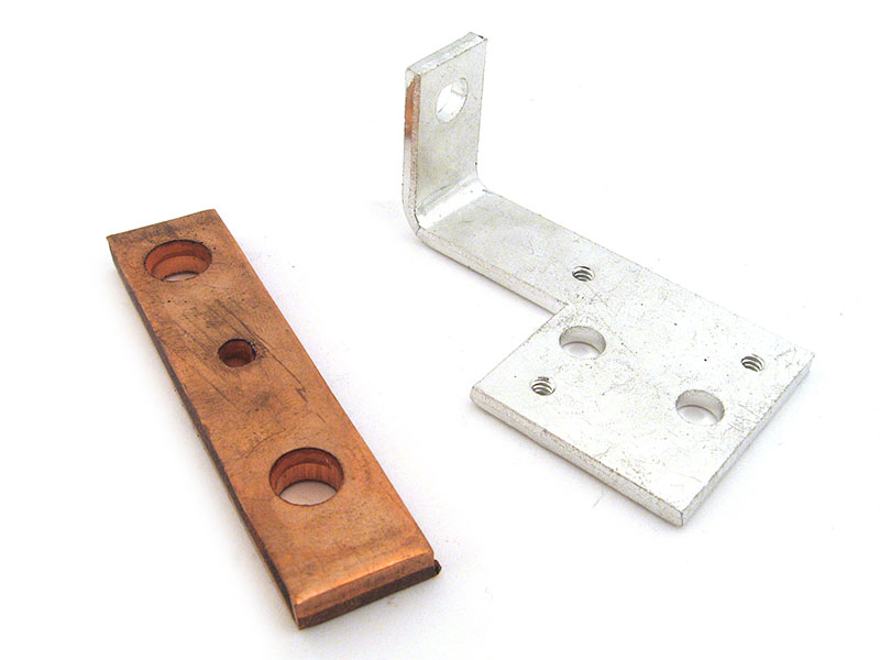 Copper busbar (raw copper view and plated copper view)